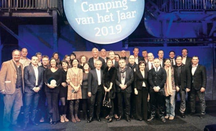 Representants dels càmpings de Tarragona que van assistir al lliurament dels premis de l'ANWB.